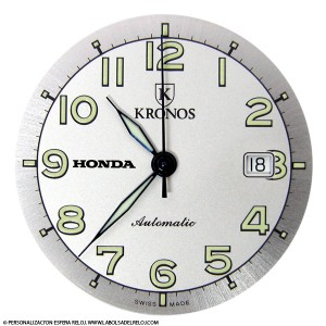 Personalizar esfera reloj con marca Honda
