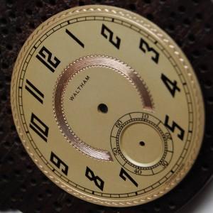 Restauracion esfera reloj bolsillo Waltham