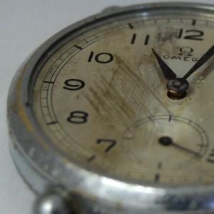 Detalle del reloj antes de su restauración