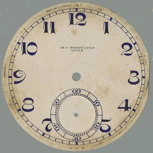 CH. F. Tissot & Fils esfera reloj bolsillo para su restauración.