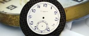 Restauración de esfera de reloj de bolsillo CH. F. TISSOT & FILS LOCLE.