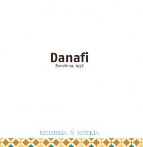 Tapa cuadriptico joyeria-relojeria danafi barcelona