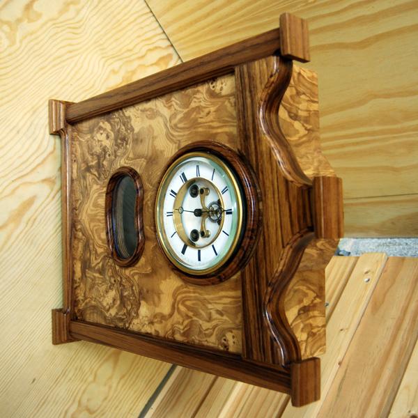 Relojes de pared en madera artesanales - Reloj pared madera ...