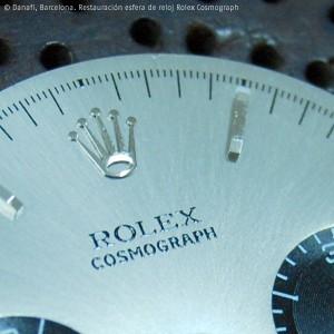 Detalle de la marca Rolex Cosmograph