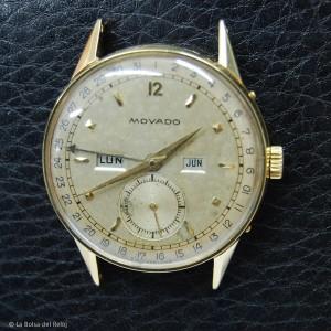 Movado reloj de oro multifunción antiguo. Vintage.