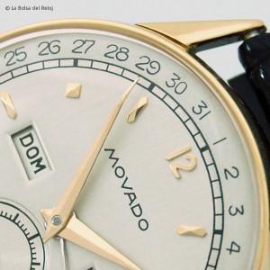 Reloj Movado con calendario, semanario y día del mes estaurado y reparado