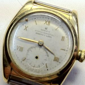 Reloj Rolex 5050 de 1935 Serpico y Lino antes de su restauración