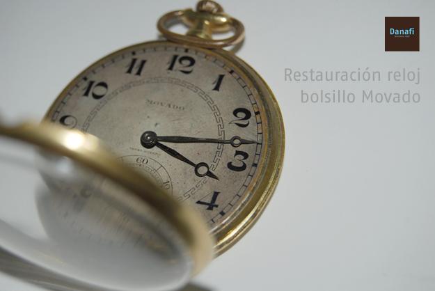 Reloj de bolsillo Movado antes de su restauración